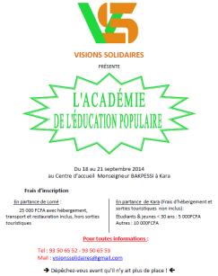 Annonce Académie
