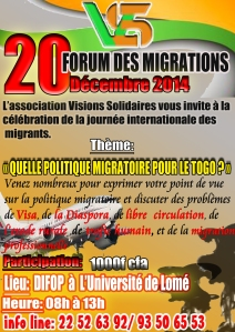 FORUM DES MIGRATIONS 2014