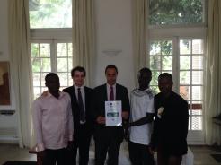 Déjeuner avec l'ambassadeur de France au Togo
