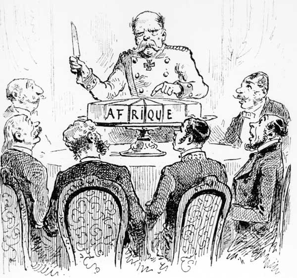 Kongokonferenz 1884 / Franz.Karikatur - Congo Conference 1884/ French caricature -