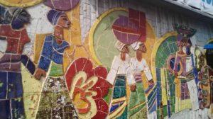 fresque murale de Goyi score Paul Ahyi