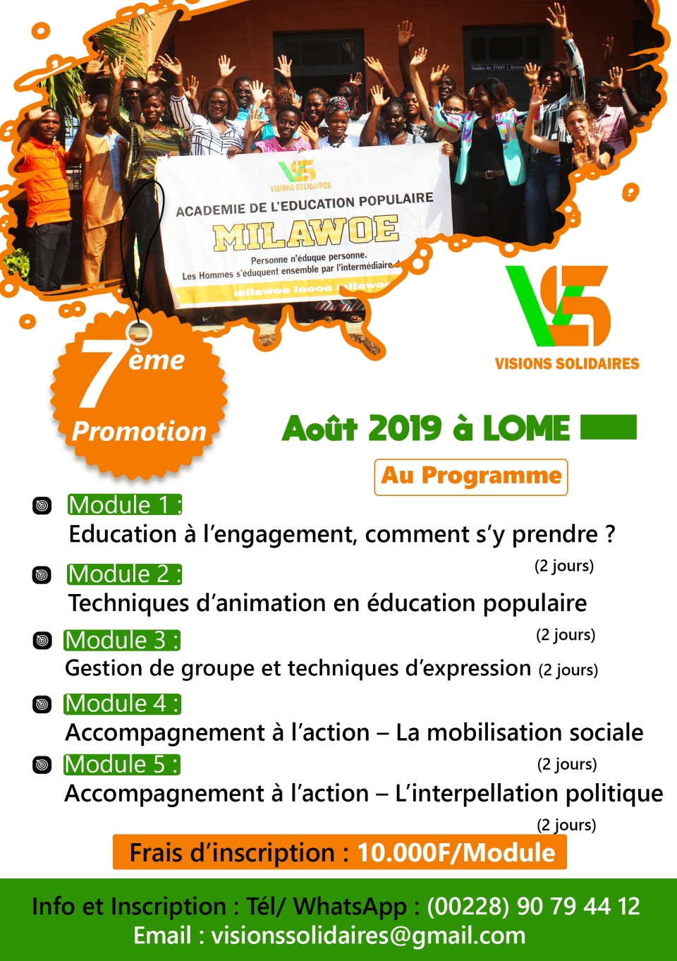 Académie Milawoe 7ème promotion